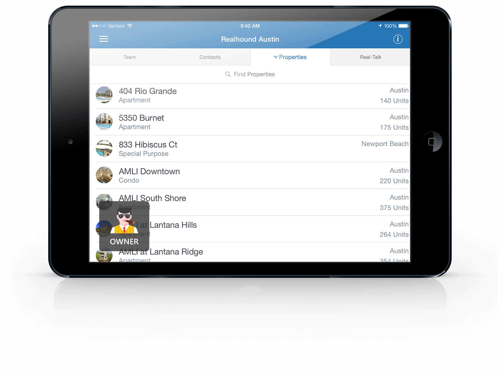 ipad-horizontal1 Commercial Real Estate CRM App