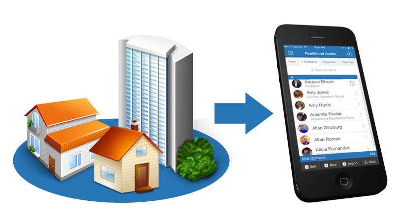 Linking-Properties-to-Contacts Commercial Real Estate PRM App Features
