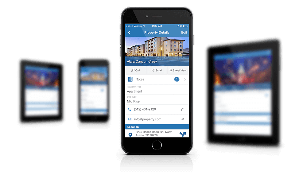 phone Commercial Real Estate PRM App Features